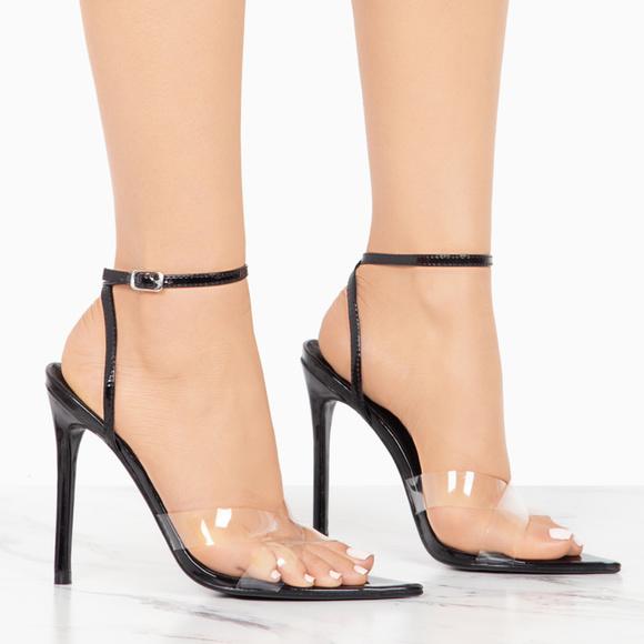 clear strap heels cheap online